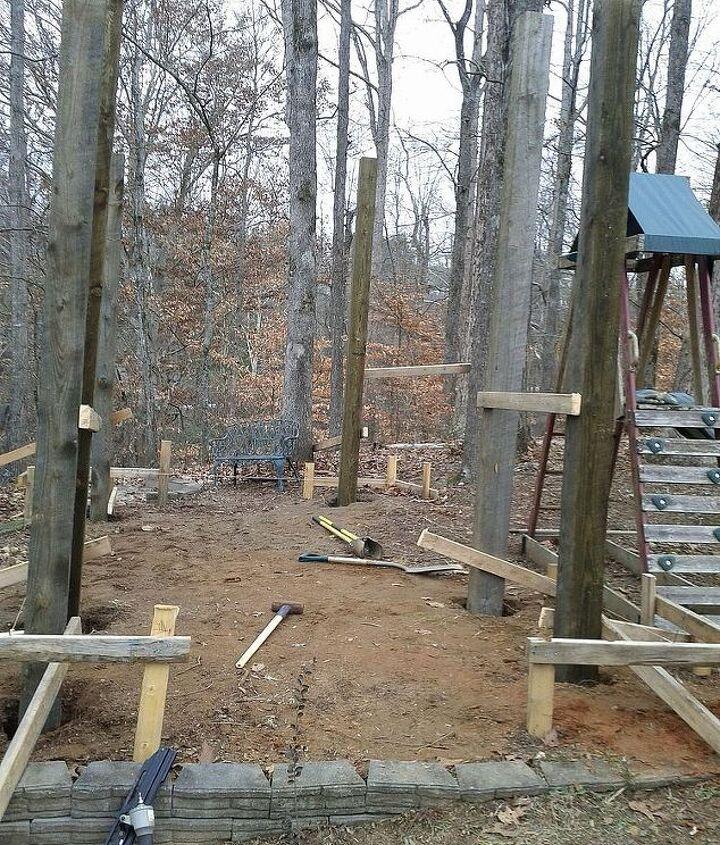 The bones are 6X6 rough sawn pressure treated pine.