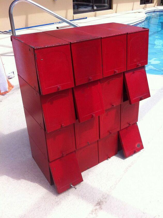 q industrial storage, kitchen cabinets, painted furniture, storage ideas