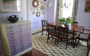 lavender dining room, chalk paint, crafts, dining room ideas, home decor, painted furniture