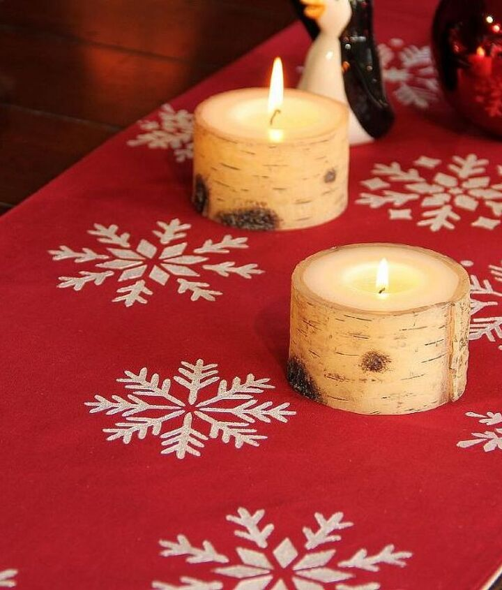 holiday diy stenciled table runner, painting, seasonal holiday decor