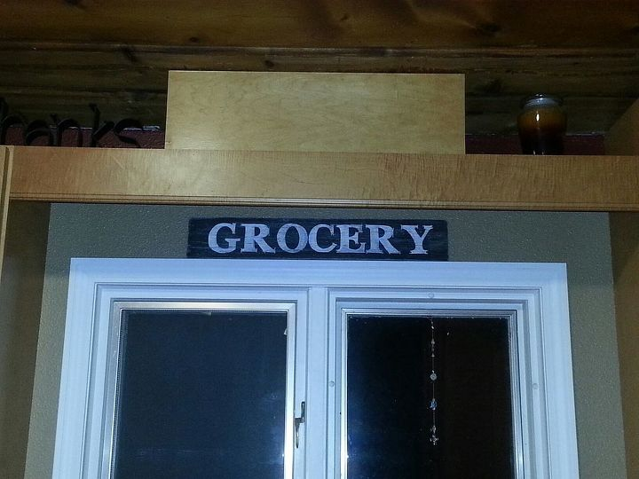 Added another scrap wood sign over my sink.
