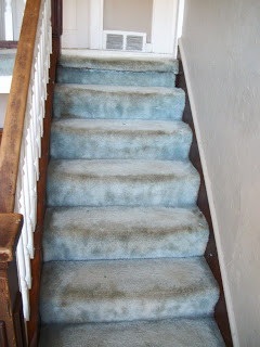 The stair case...in desperate need of help!