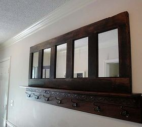 Charmant Coat Rack From An Old Door And Yard Sale Shelves, Repurposing Upcycling,  Shelving Ideas
