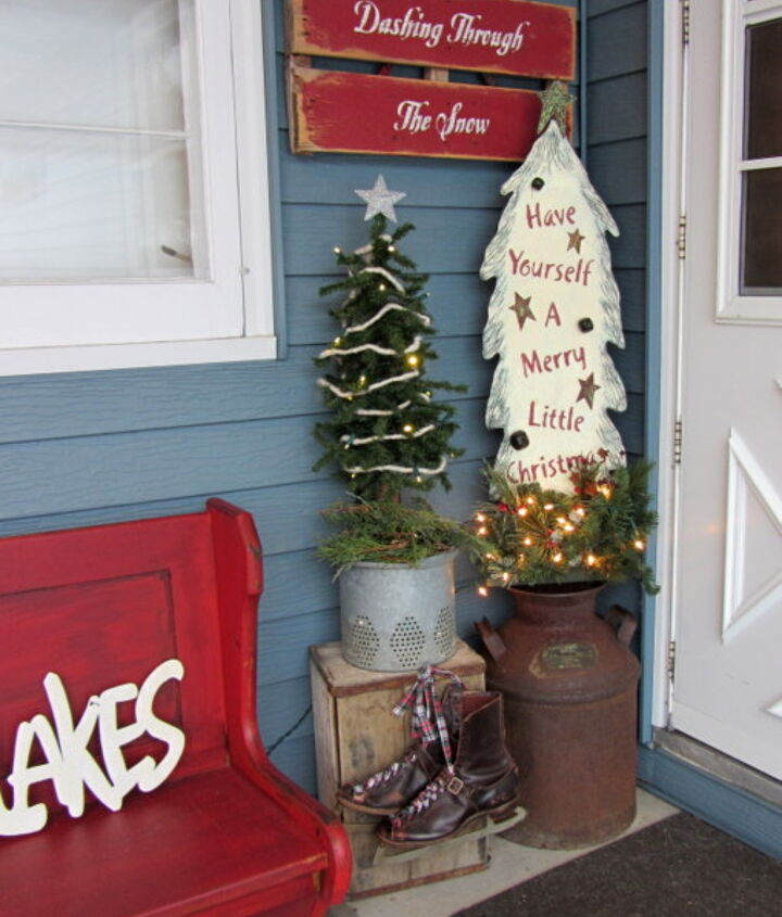 I can put away the trees after Christmas and leave the rest of the display up all winter.