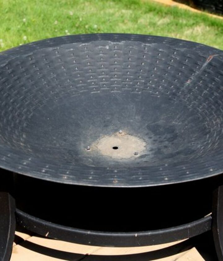 Fire bowl before transformation
