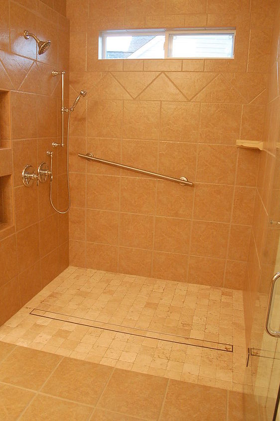 this was a unique design we removed a 72 existing bath and replaced it with a roll, bathroom ideas, tiling