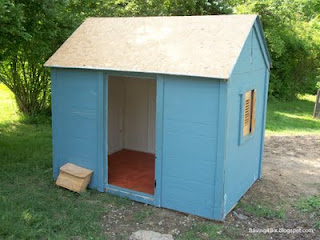 10 play house transformed, doors, garages, outdoor living, painting