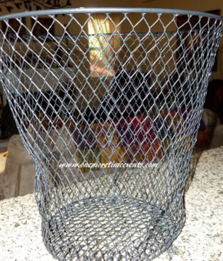 Dollar Store Wire Trash Basket