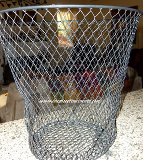 Dollar Store Wire Trash Basket