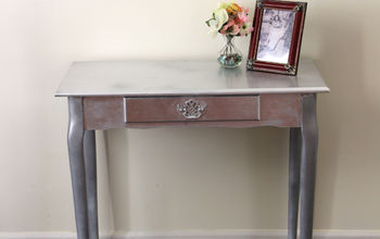 how to silver leaf furniture, painted furniture
