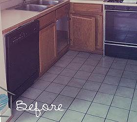 Fine 12X12 Black Ceramic Tile Thick 12X24 Ceramic Floor Tile Clean 16 Ceramic Tile 24X24 Marble Floor Tiles Young 3X6 White Glass Subway Tile Blue4X2 Ceiling Tiles Groutable Vinyl Tile   EASY Tile Makeover | Hometalk