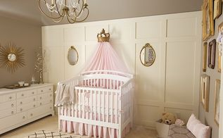 pink grey and gold vintage nursery makeover, bedroom ideas, home decor, Vintage nursery with pink grey and gold touches throughout