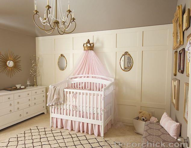 Pink, Grey, and Gold Vintage Nursery Makeover   Hometalk