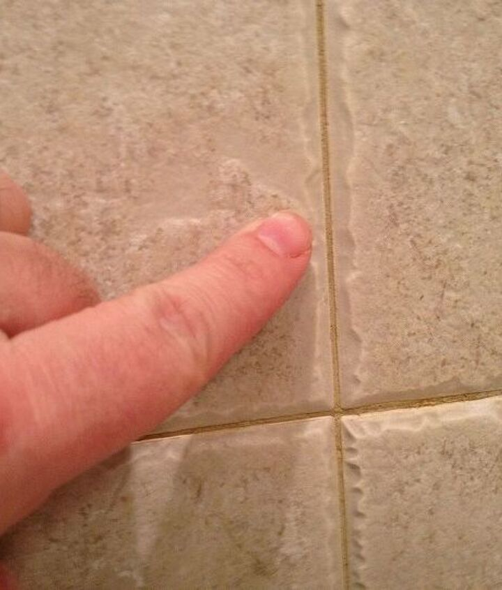 Untreated grout became discolored and reddish (familiar?)