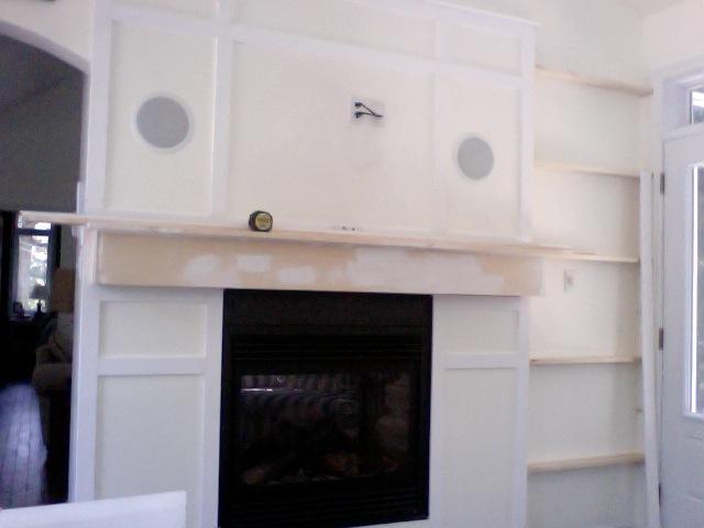 q to paint the mantle shelves same colour bm mascarpone or white, fireplaces mantels, home decor, painting