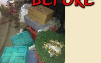 simplify and organize your christmas decorations, christmas decorations, organizing, seasonal holiday decor
