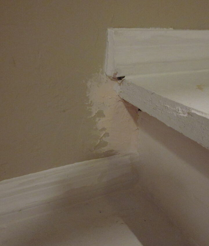 Step 3 - Repair all of the holes in the walls the builders hid with the carpet.