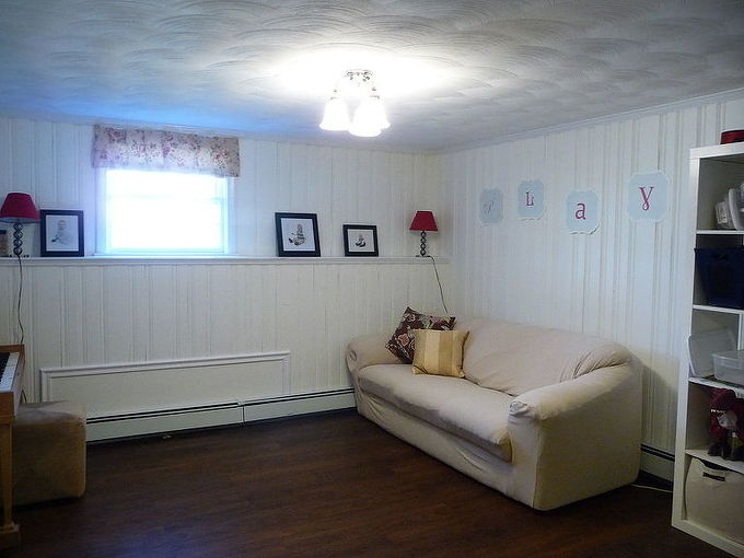 painting knotty pine panelling, cleaning tips, living room ideas, paint colors, painting, wall decor, After