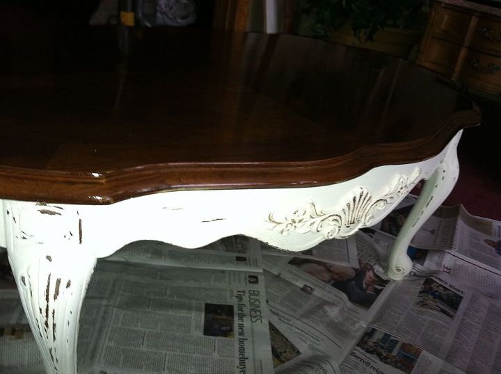 Distressed and a coat of Minwax stain/poly