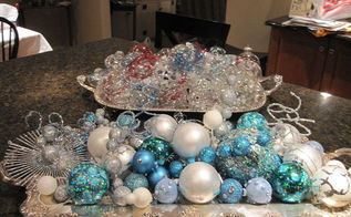 holiday activity decorated these clear and colored balls with sparkly stuff for, seasonal holiday d cor