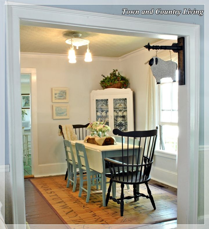 the dining room is done, dining room ideas, home decor, Farmhouse dining room re do