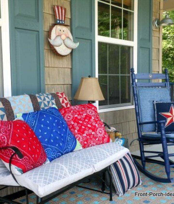 Easy Red White Blue Bandana Pillows Hometalk