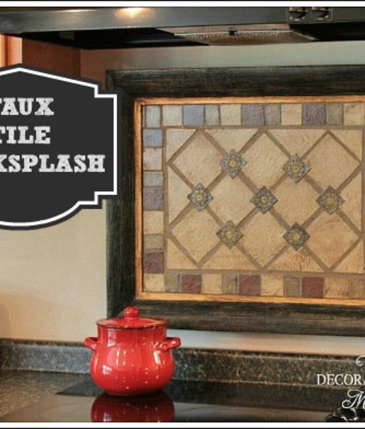faux tile backsplash, diy, how to, kitchen backsplash, kitchen design, tiling, Instead of applying the faux tiles to the wall I placed them in a frame