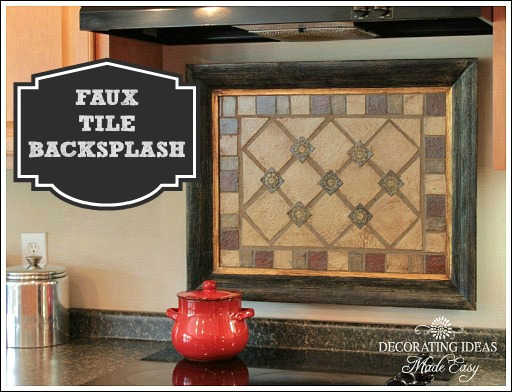 Faux Tile Backsplash Hometalk