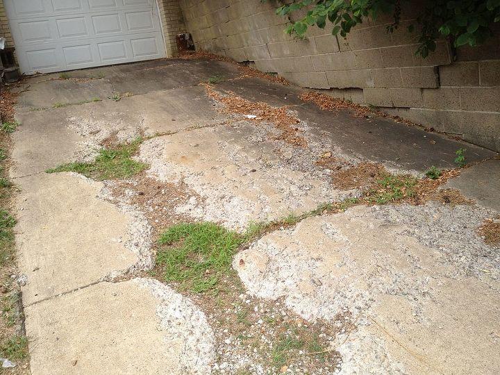concrete driveway question, concrete masonry, curb appeal