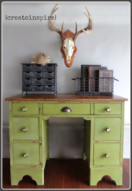 refinished small antique desk, painted furniture, It all came together and  l love its - Refinished Small Antique Desk Hometalk