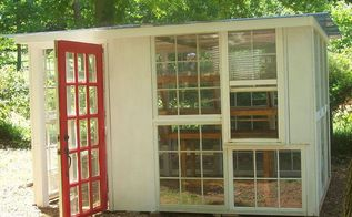 greenhouse project, diy, gardening, home improvement, repurposing upcycling, Yes i had to have a RED DOOR cause he wont let me paint the front door red ha