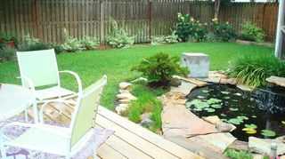 , A photo taken before the flagstone walkway was installed