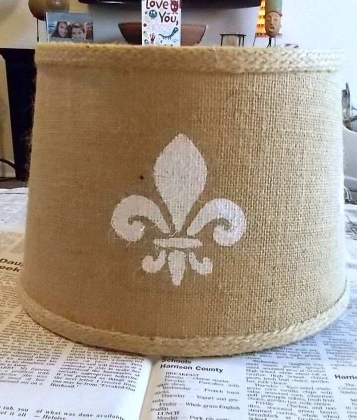 ho to stencil a lampshade, crafts, painting
