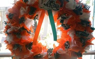 making some nfl wreaths for the family to get the season started, crafts, This ones my husbands mine