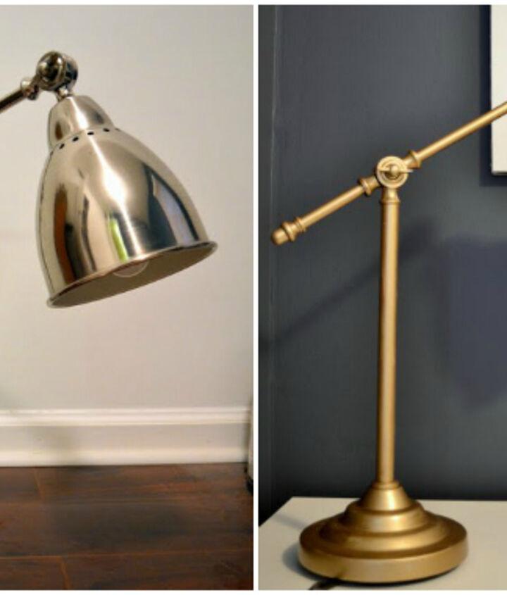 quick ikea lamp hack, lighting, painting