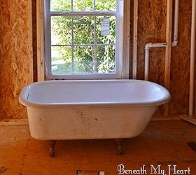 How We Refinished Our Antique Claw Foot Tub, Bathroom Ideas, Diy, How To
