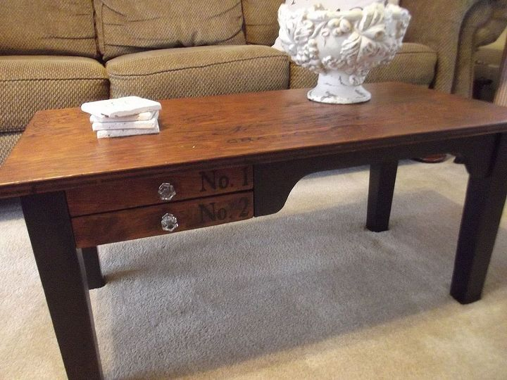 Coffee table from old desk.