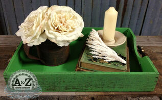 easy repurposed tray, crafts, home decor, repurposing upcycling