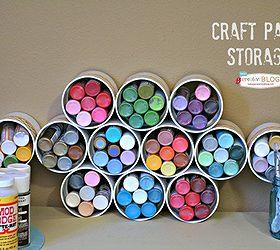 Craft Room Organization, Craft Rooms, Organizing, Storage Ideas, Craft  Paint Storage Using