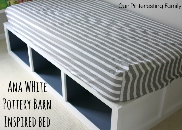 pb inspired storage day bed, bedroom ideas, painted furniture