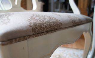adding piping to dining room chairs is easier than you think, painted furniture, reupholster, Piping adds a beautiful finished look