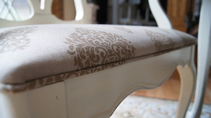 Adding Piping To Dining Room Chairs Is Easier Than You Think Painted Furniture Reupholster