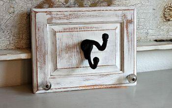 Repurpose Cabinet Doors to Coat Hooks