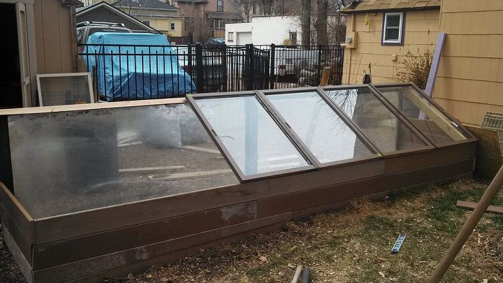 cold frame garden, diy, gardening, raised garden beds, About 1 3 done