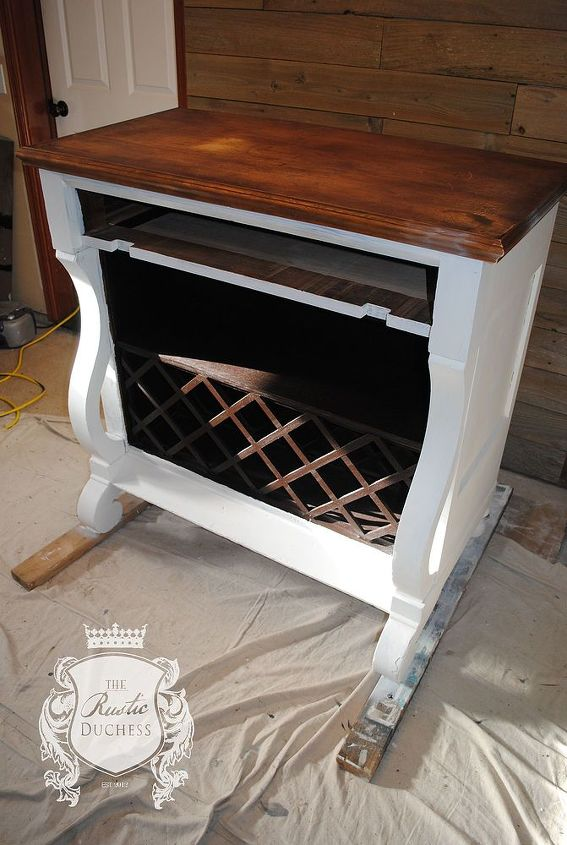 1800 s empire dresser turned wine bar, painted furniture, repurposing upcycling, rustic furniture