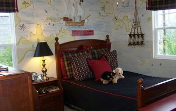 boys rooms, bedroom ideas, home decor, painting, This handpainted map has the names of family members for various islands beaches and coves for a fun personal touch