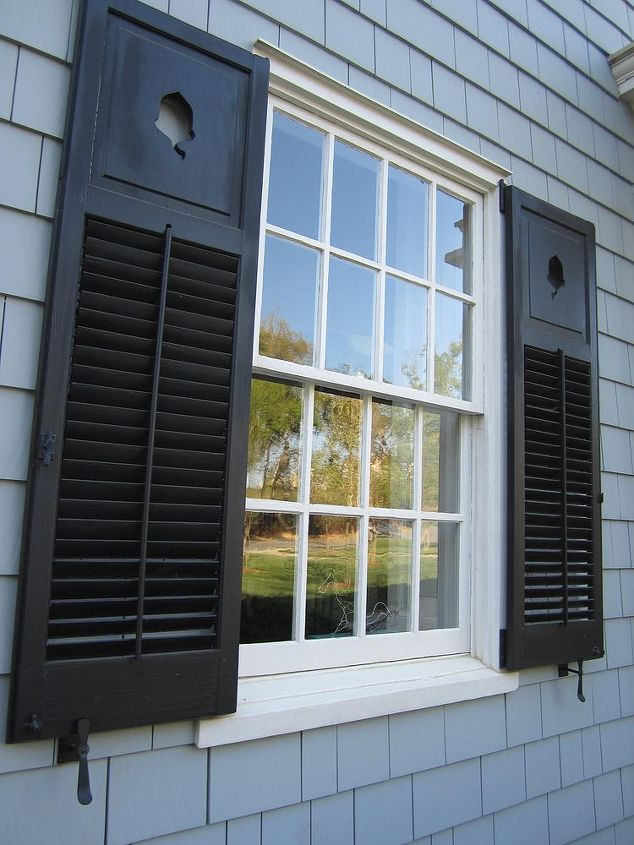 These shutters were dipped and stripped to be operational. The windows were totally reglazed.