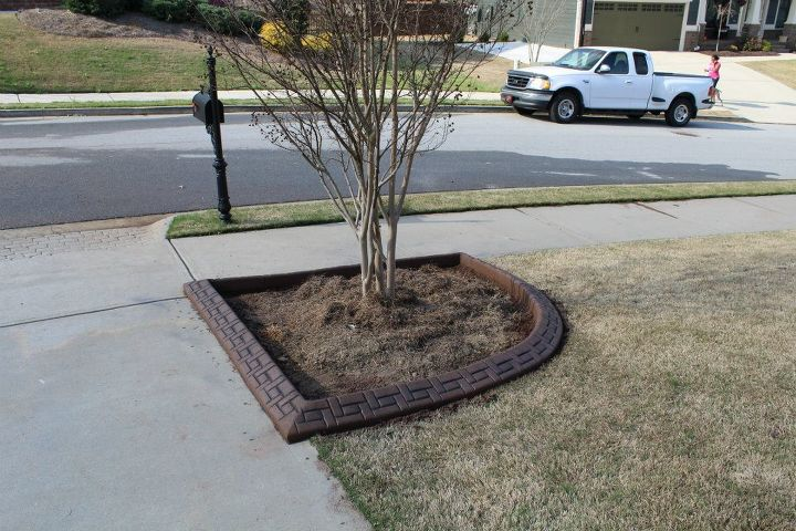 landscape curbing job completed in buford ga with river sand from my favorite, landscape, outdoor living