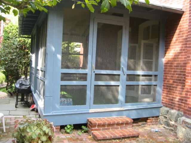 Existing screened-in porch prior to renovation.