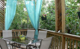 my favorite seating area, decks, outdoor furniture, outdoor living, painted furniture, patio, Outdoor dining space